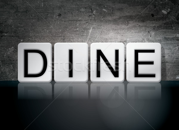 Dine Tiled Letters Concept and Theme Stock photo © enterlinedesign