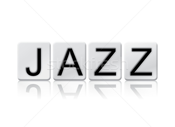 Jazz isolé carrelage lettres mot écrit Photo stock © enterlinedesign