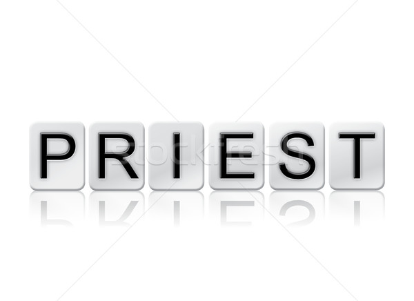 Priest Isolated Tiled Letters Concept and Theme Stock photo © enterlinedesign