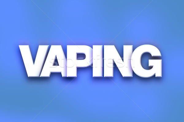 Vaping Concept Colorful Word Art Stock photo © enterlinedesign