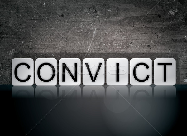 Convict Concept Tiled Word Stock photo © enterlinedesign
