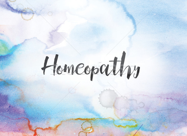 Homeopathy Concept Watercolor and Ink Painting Stock photo © enterlinedesign