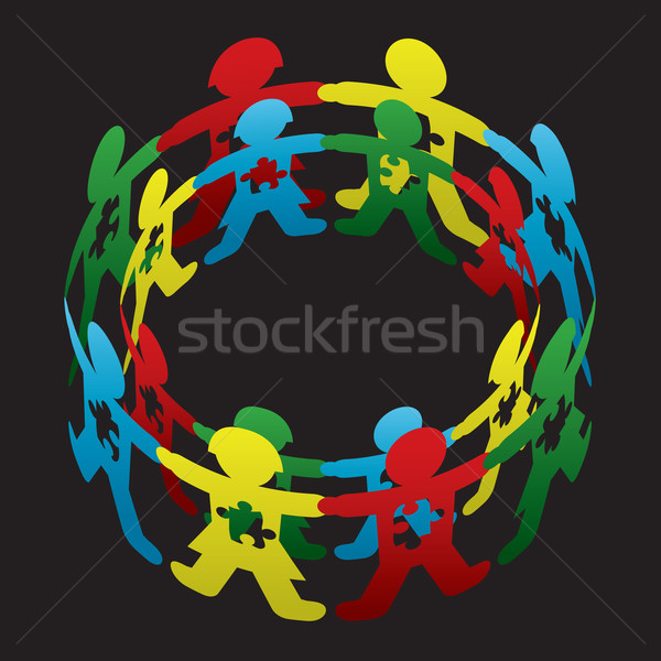Child Autism Circle of Hope Stock photo © enterlinedesign