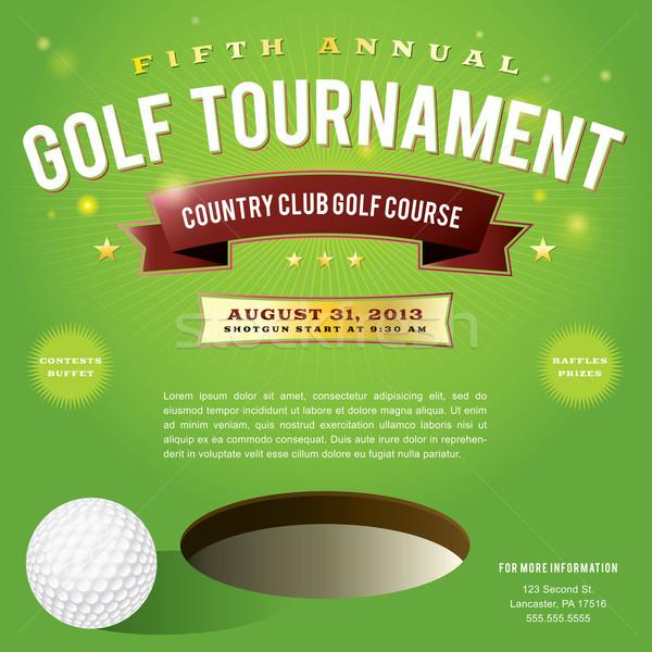 Golf torneo invito design nice vettore Foto d'archivio © enterlinedesign