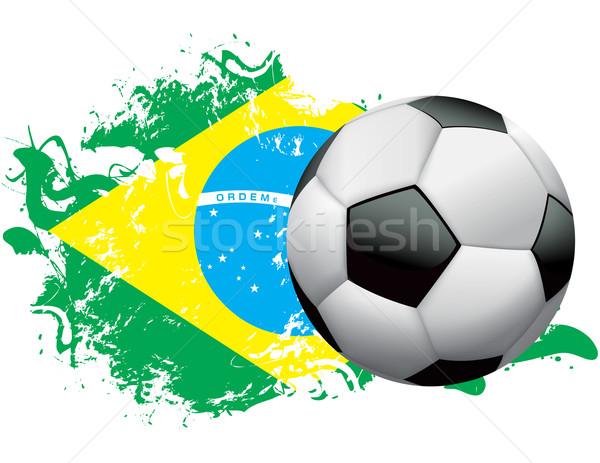 Brazil Soccer Grunge Design Stock photo © enterlinedesign