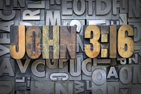 John 3:16 Stock photo © enterlinedesign