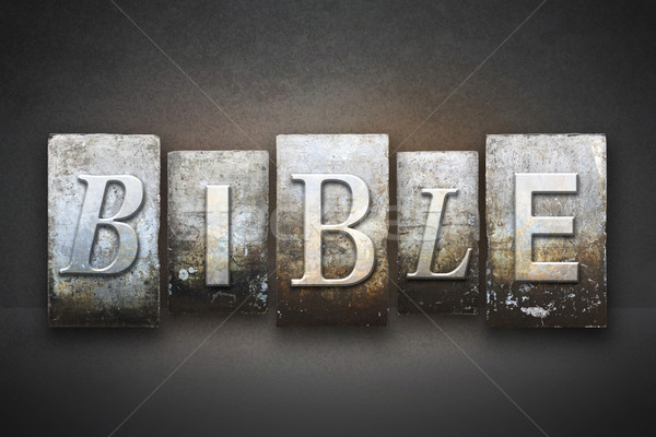 Bible Letterpress Stock photo © enterlinedesign