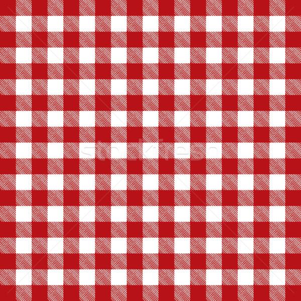 Stok fotoğraf: Kırmızı · model · masa · örtüsü · örnek · vektör
