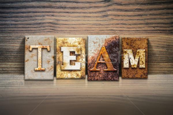 Team Concept Letterpress Theme Stock photo © enterlinedesign