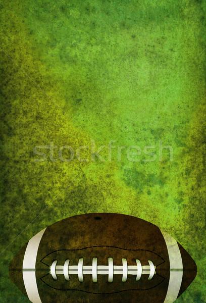 Stok fotoğraf: Amerikan · futbol · sahası · top · yeşil · oda
