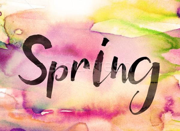 Spring Concept Watercolor Theme Stock photo © enterlinedesign