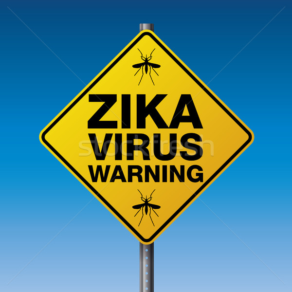 Geel virus illustratie straat vector Stockfoto © enterlinedesign