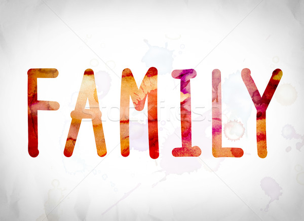 Family Concept Watercolor Word Art Stock photo © enterlinedesign