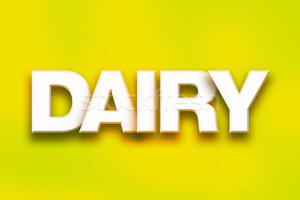 Dairy Concept Colorful Word Art Stock photo © enterlinedesign