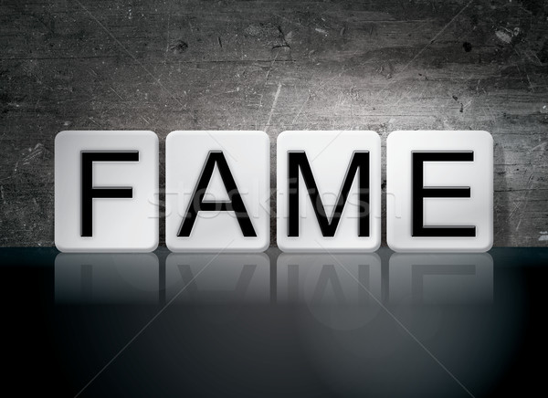 Fame Tiled Letters Concept and Theme Stock photo © enterlinedesign