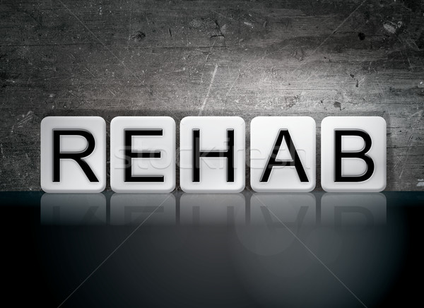 Rehab Tiled Letters Concept and Theme Stock photo © enterlinedesign