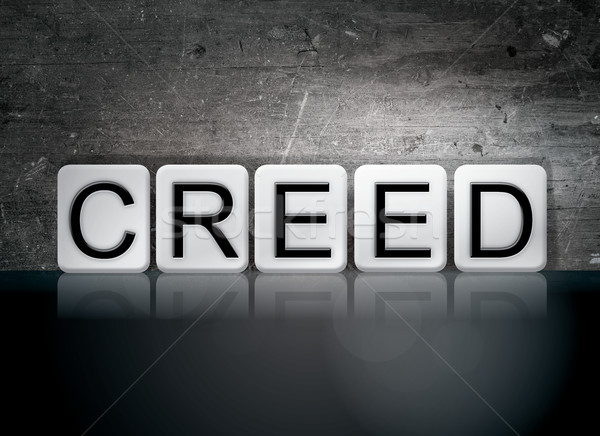 Creed Concept Tiled Word Stock photo © enterlinedesign