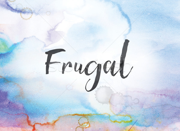 Frugal Concept Watercolor and Ink Painting Stock photo © enterlinedesign