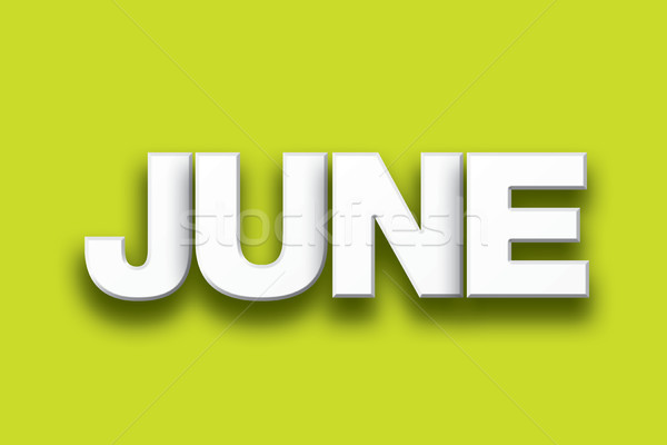 June Theme Word Art on Colorful Background Stock photo © enterlinedesign
