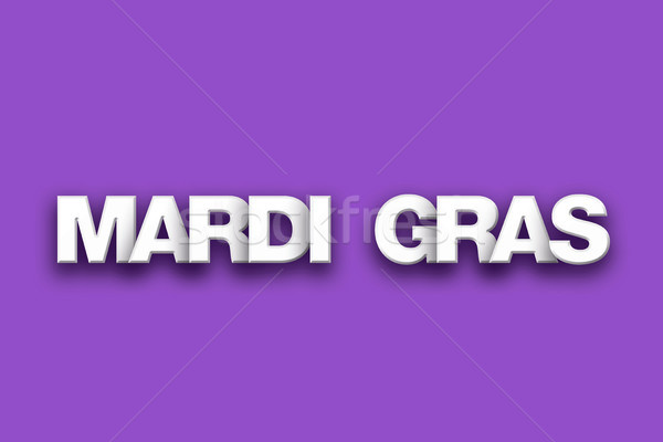 Mardi Gras Theme Word Art on Colorful Background Stock photo © enterlinedesign