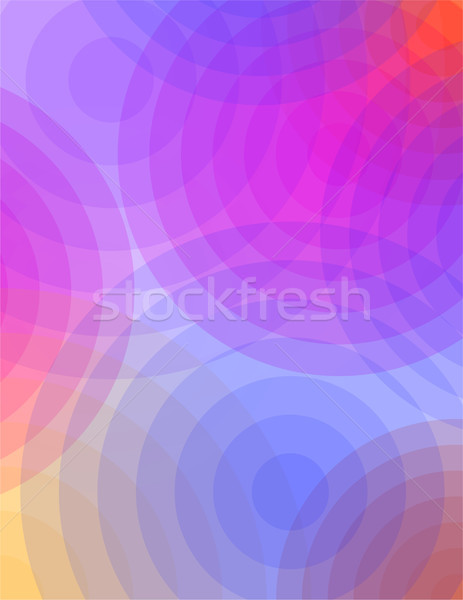 Abstract roze Blauw cirkels kleur doorzichtigheid Stockfoto © enterlinedesign