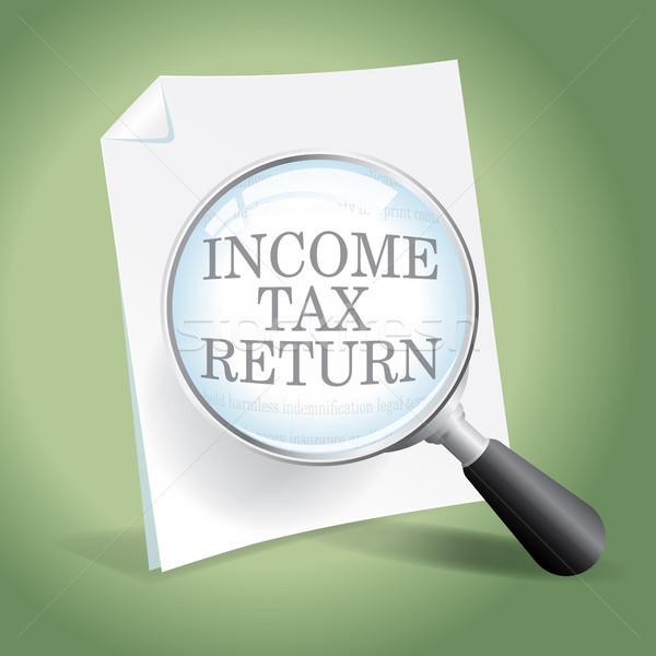 доход налоговых возврат посмотреть Сток-фото © enterlinedesign
