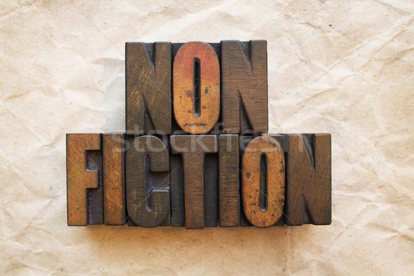 слово написанный Vintage древесины тип Сток-фото © enterlinedesign