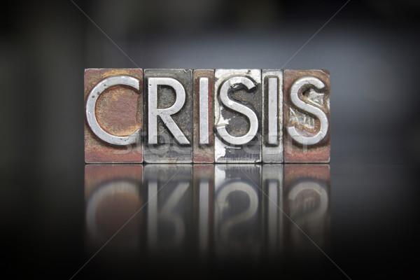 Crisis Letterpress Stock photo © enterlinedesign