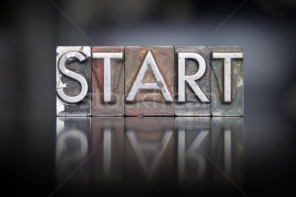 Start Letterpress Stock photo © enterlinedesign