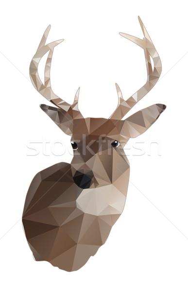鹿 バック 抽象的な デザイン 孤立した 白 ストックフォト © enterlinedesign