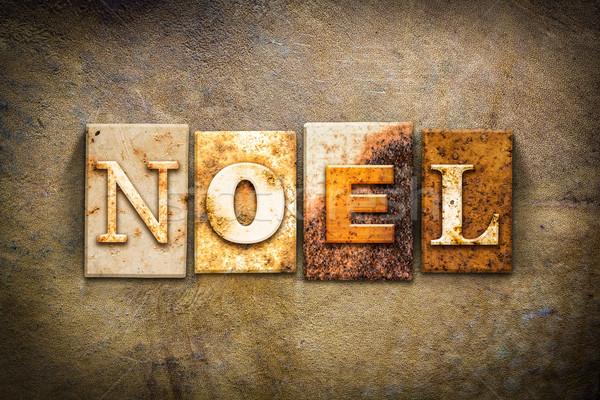 Noel Concept Letterpress Leather Theme Stock photo © enterlinedesign