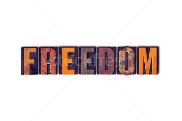 自由 孤立した タイプ 言葉 書かれた ストックフォト © enterlinedesign