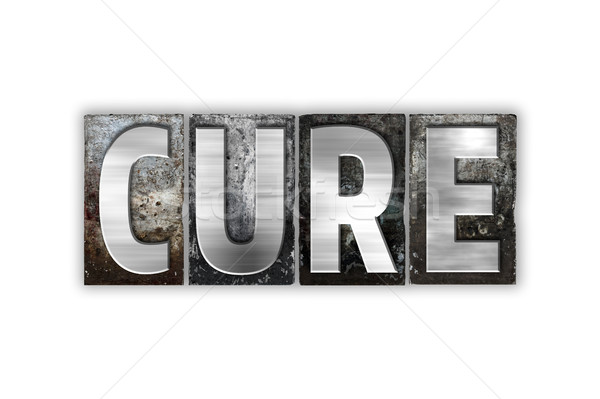 Cure Concept Isolated Metal Letterpress Type Stock photo © enterlinedesign