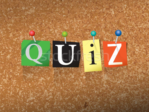 Quiz Pinned Paper Concept Illustration Stock photo © enterlinedesign