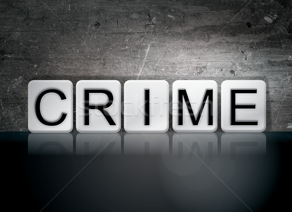 Crime Tiled Letters Concept and Theme Stock photo © enterlinedesign