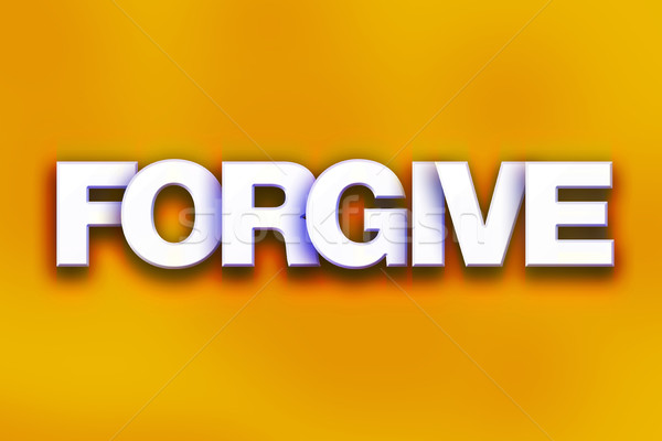 Forgive Concept Colorful Word Art Stock photo © enterlinedesign