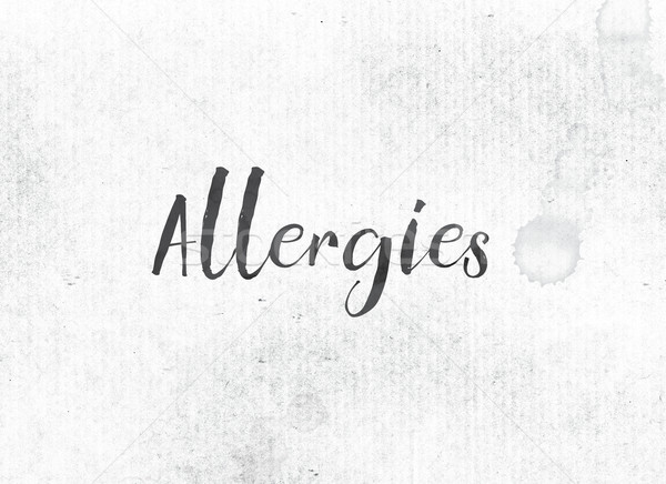 Allergies Concept Painted Ink Word and Theme Stock photo © enterlinedesign