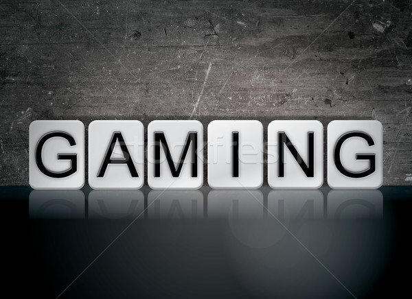Gaming Concept Tiled Word Stock photo © enterlinedesign
