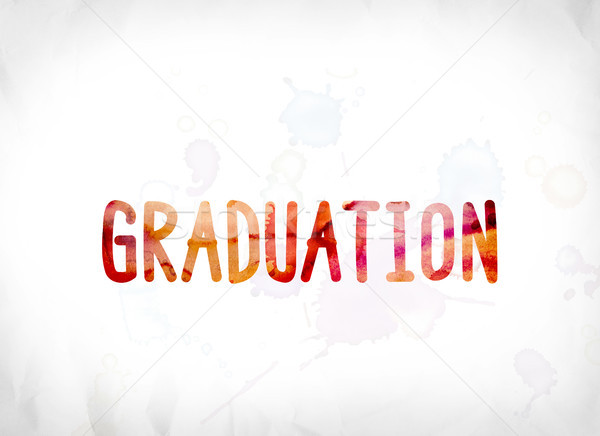 Graduation Concept Painted Watercolor Word Art Stock photo © enterlinedesign