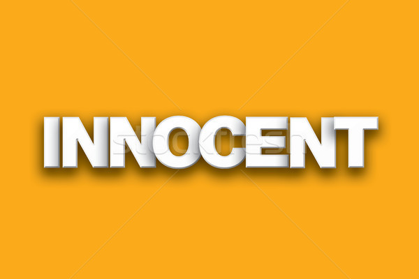 Innocent Theme Word Art on Colorful Background Stock photo © enterlinedesign