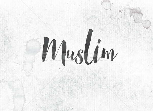 Muslim Concept Painted Ink Word and Theme Stock photo © enterlinedesign