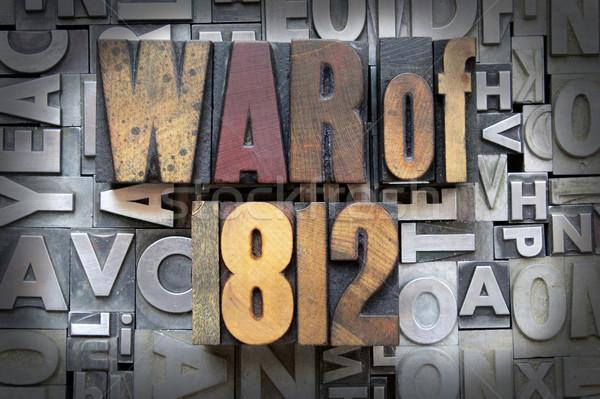 Savaş yazılı bağbozumu tip dizayn Stok fotoğraf © enterlinedesign