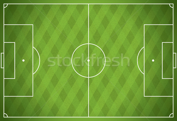 Realistic Vector Football - Soccer Field Stock photo © enterlinedesign