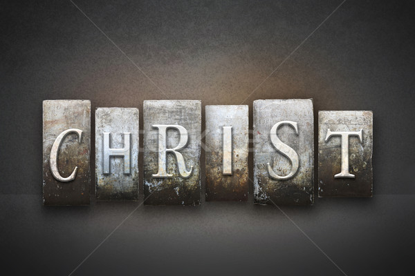 Christ nom écrit vintage type Photo stock © enterlinedesign