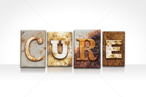 Cure Letterpress Concept Isolated on White Stock photo © enterlinedesign