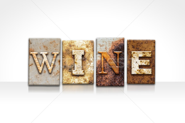 Wine Letterpress Concept Isolated on White Stock photo © enterlinedesign