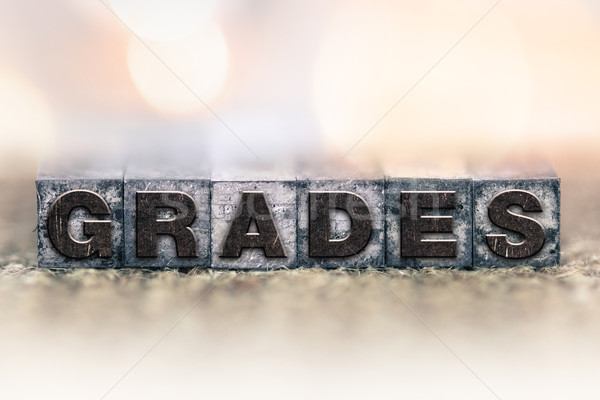 Grades Concept Vintage Letterpress Type Stock photo © enterlinedesign