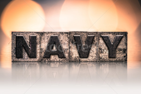 NAVY Concept Vintage Letterpress Type Stock photo © enterlinedesign
