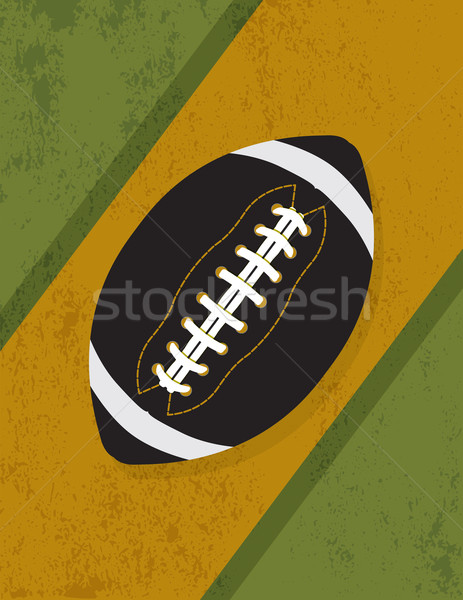 Vintage Retro Grunge American Football Background Illustration Stock photo © enterlinedesign