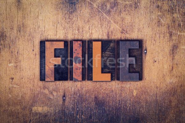 Archivo tipo palabra escrito Foto stock © enterlinedesign